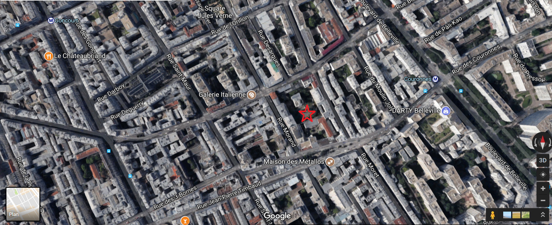 Vue aérienne de la parcelle où seront créés les deux logements sociaux